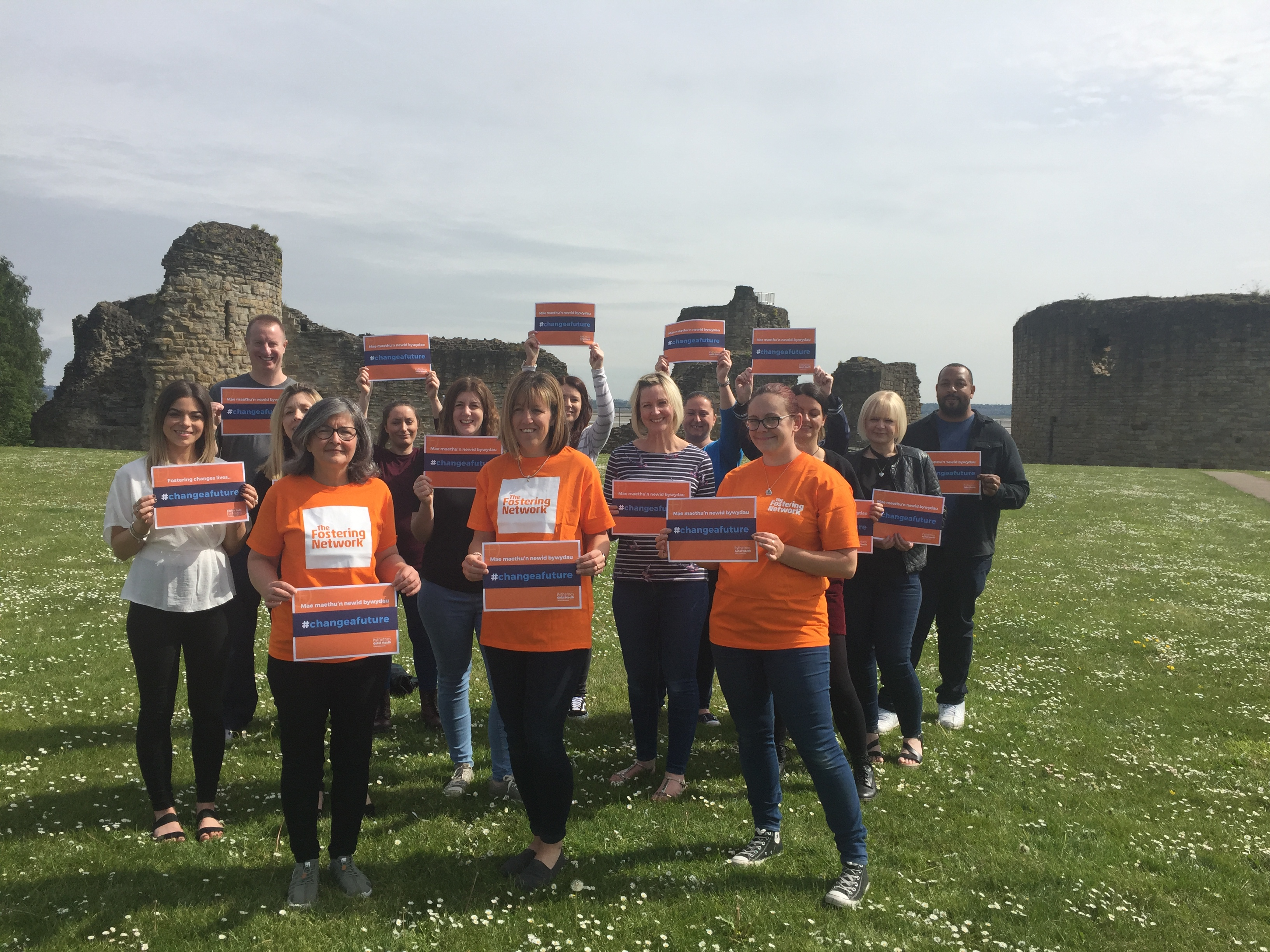 Flintshire Social Services Teams Walk to Flint Castle.JPG